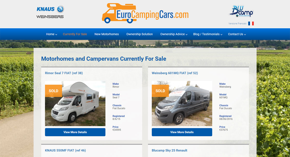 euro camping cars screen shot 2