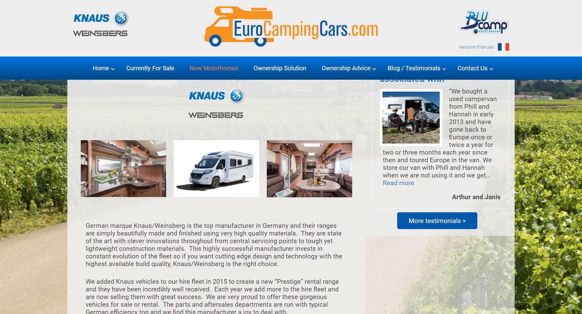 euro camping cars screen shot 3