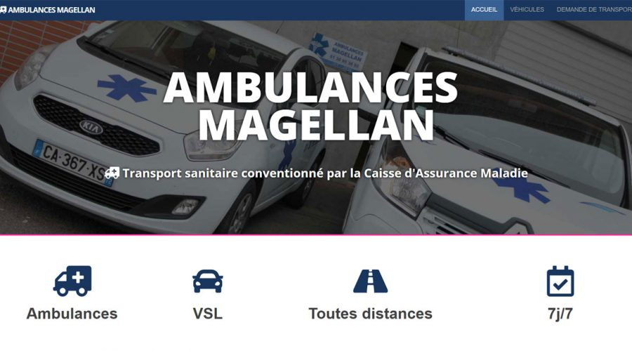 Web Design | Ambulances Magellan