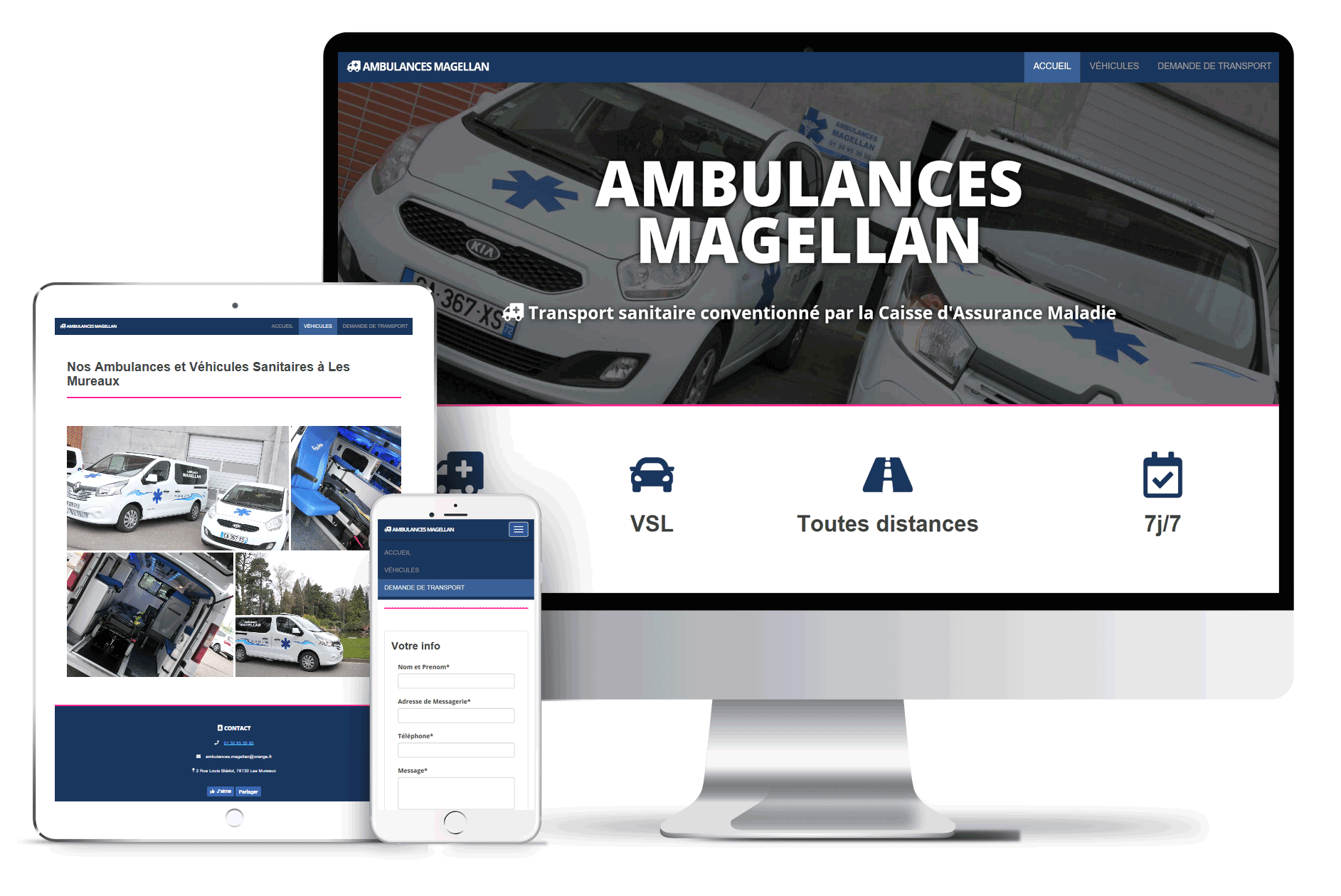 ambulances magellan mock up