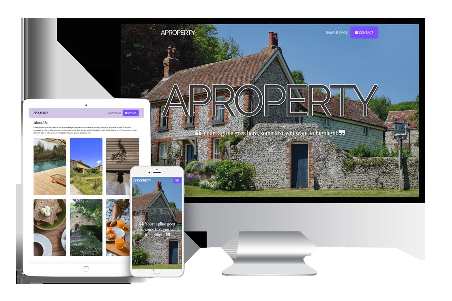 property showcase wordpress template