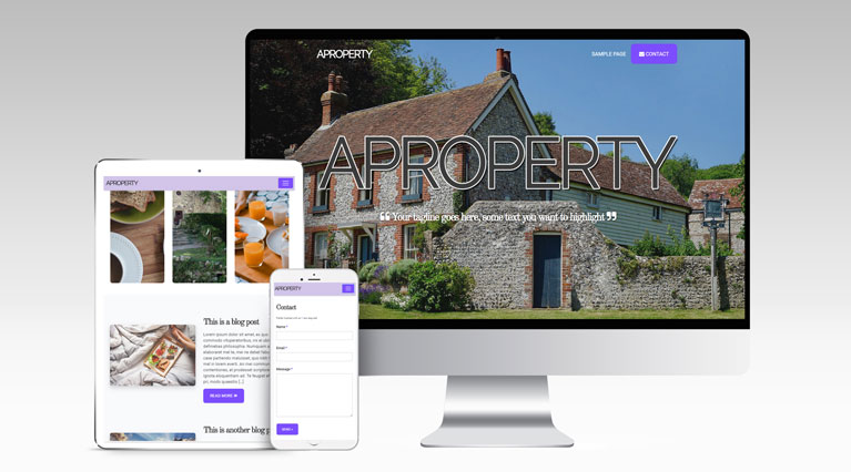 Property Showcase WordPress Template