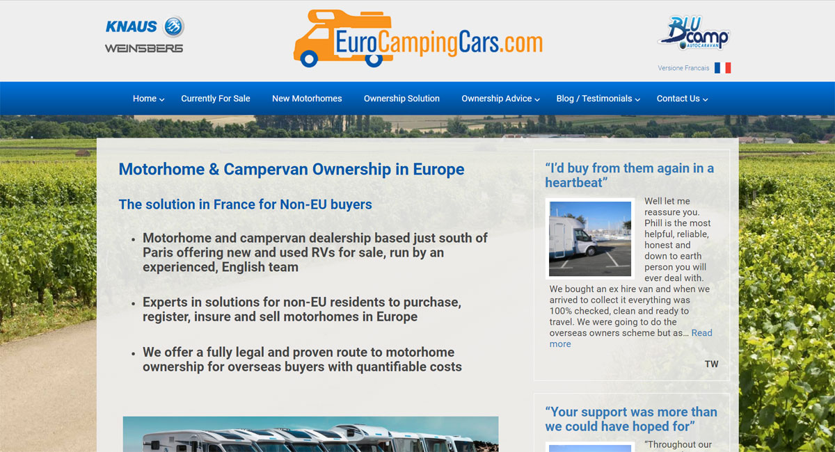 euro camping cars screen shot 1