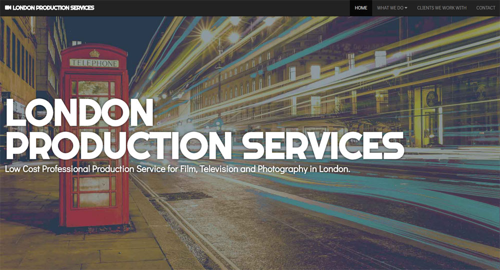 London Production Services website screen shot 1