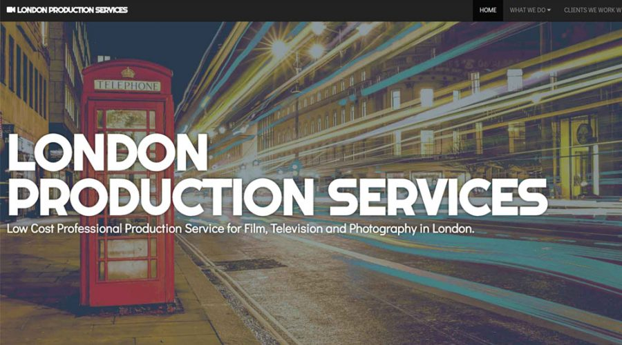 Web Design | London Production Services