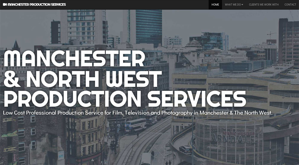 Manchester Production Services website screenshot 1