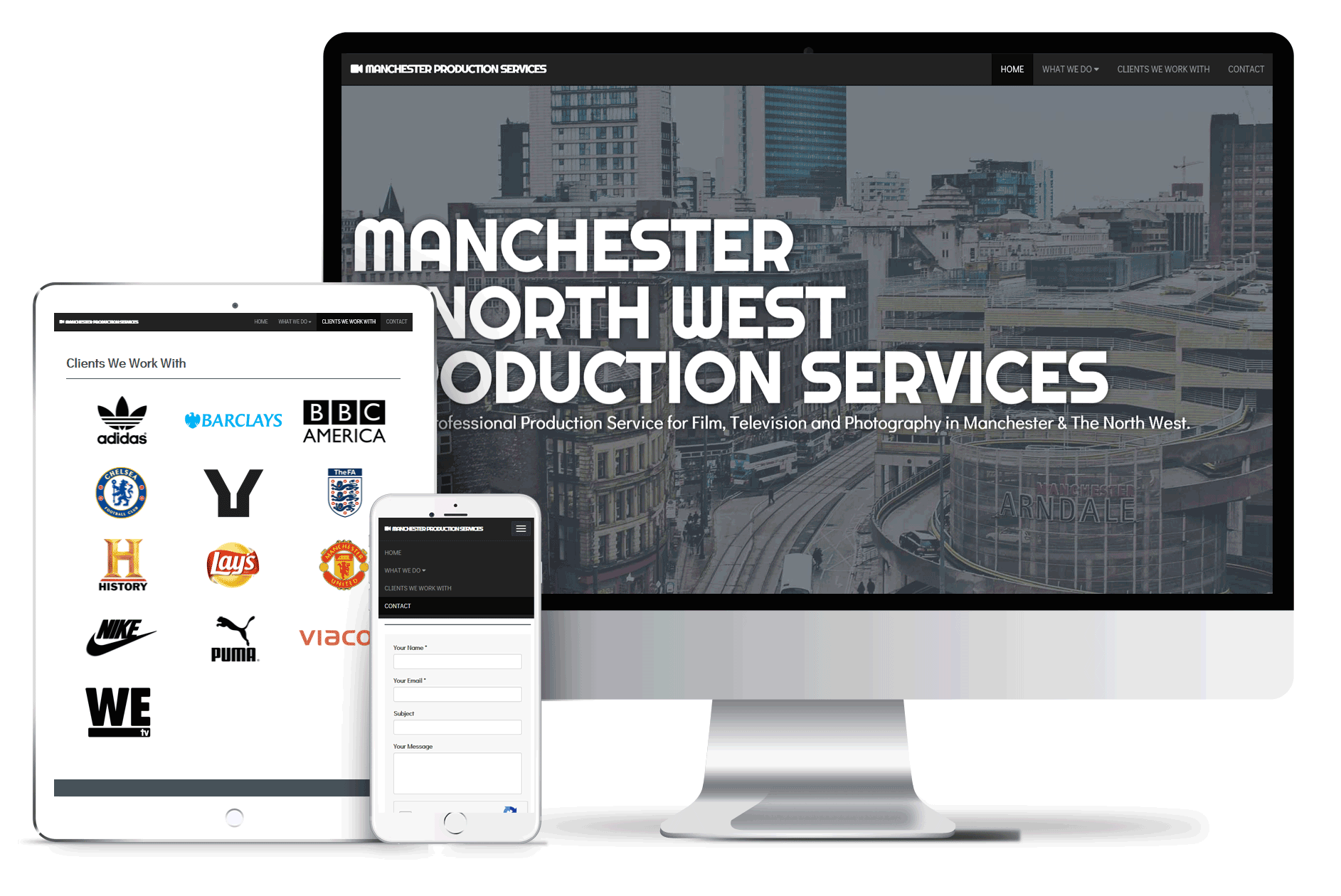 manchester production services mock up