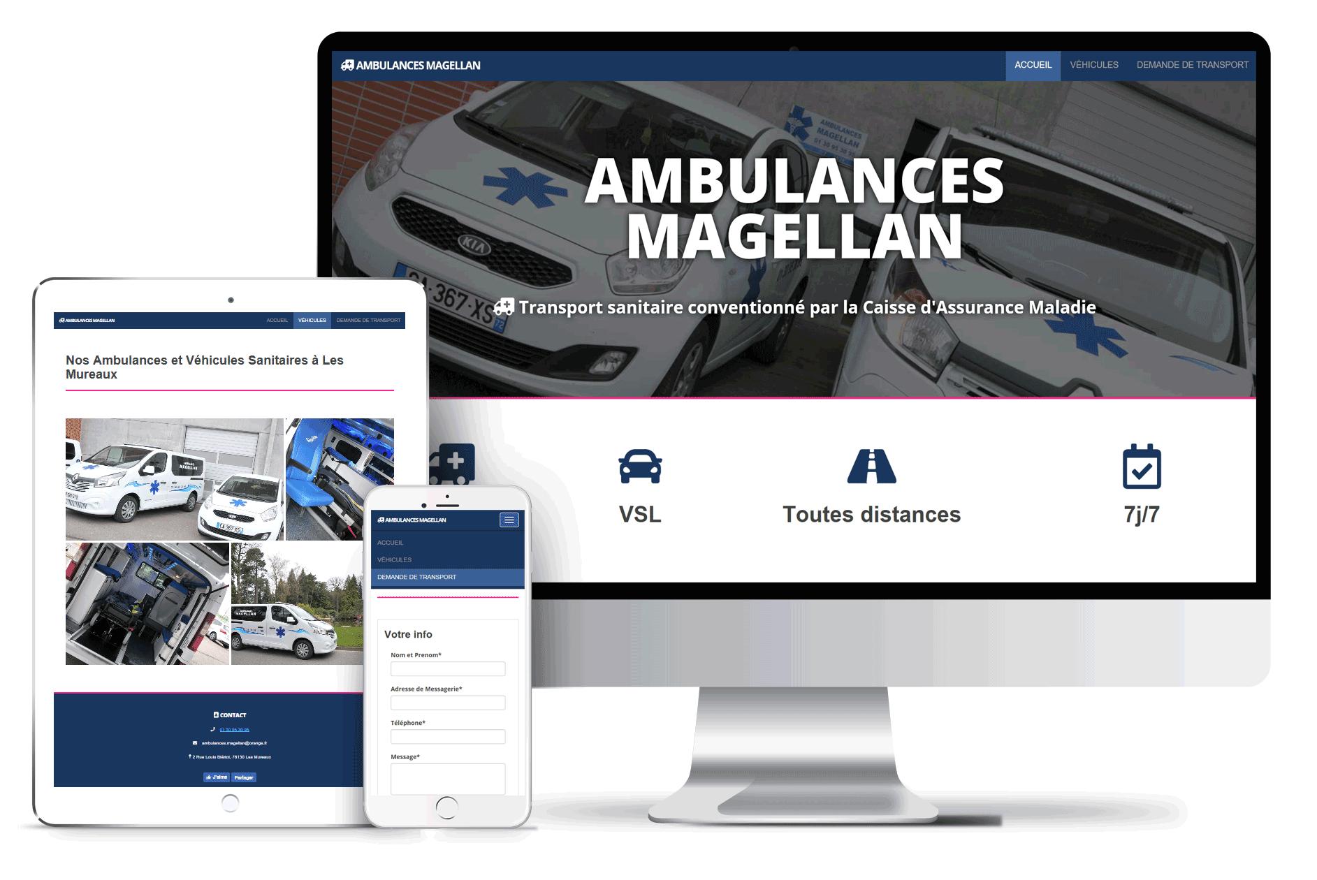 ambulances magellan mock up
