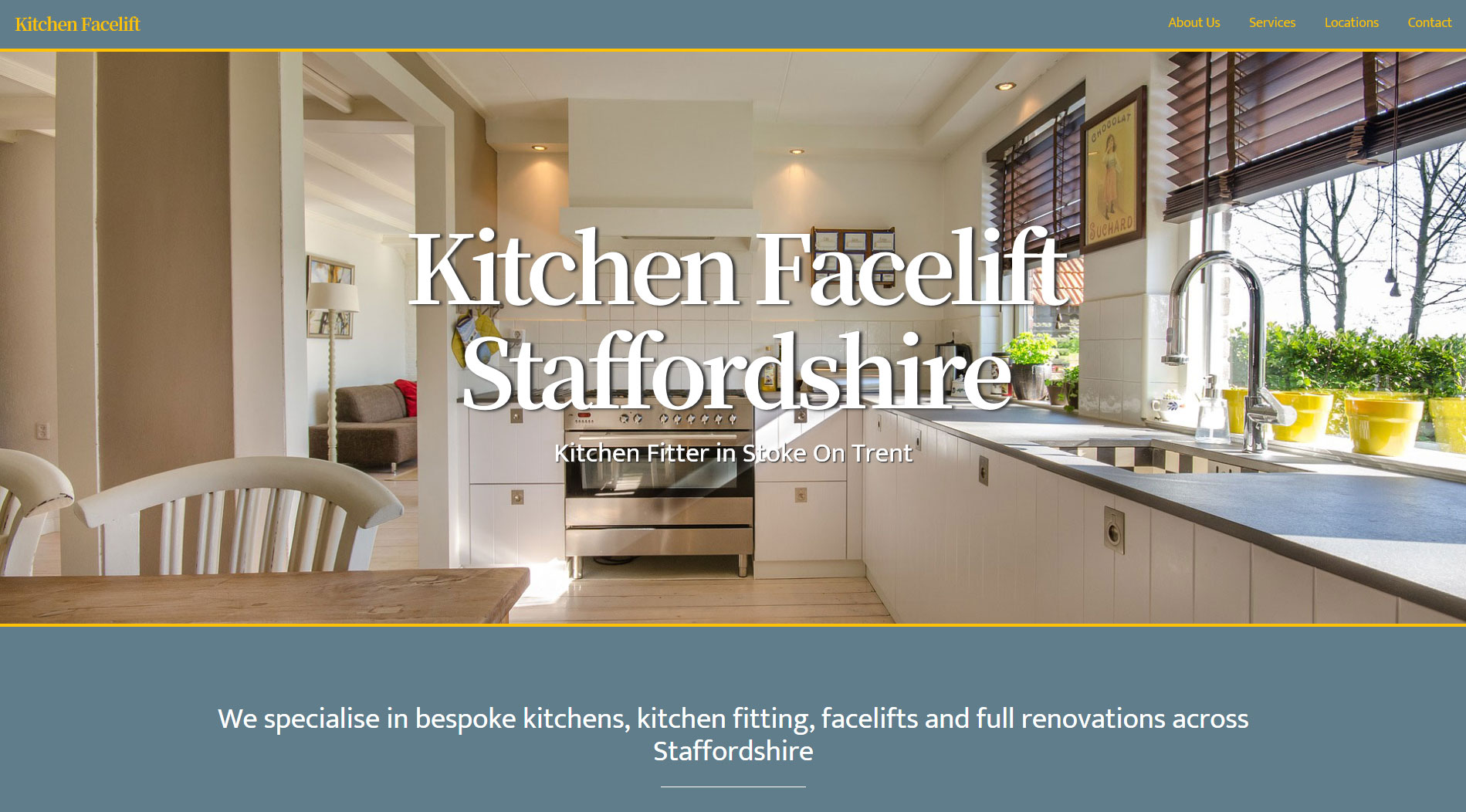 website design example - kitchenfitterstoke.co.uk