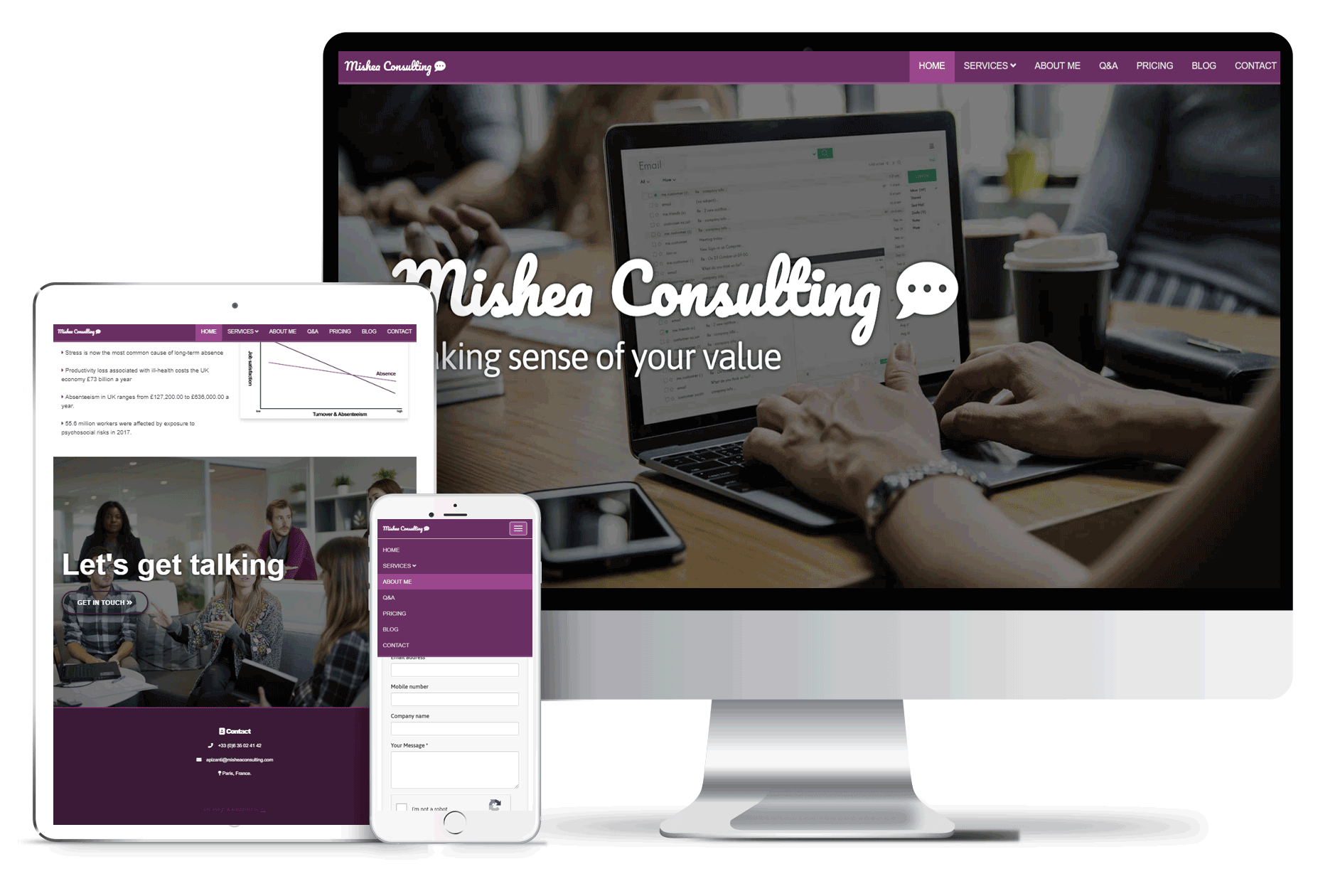 mishea consulting mock up