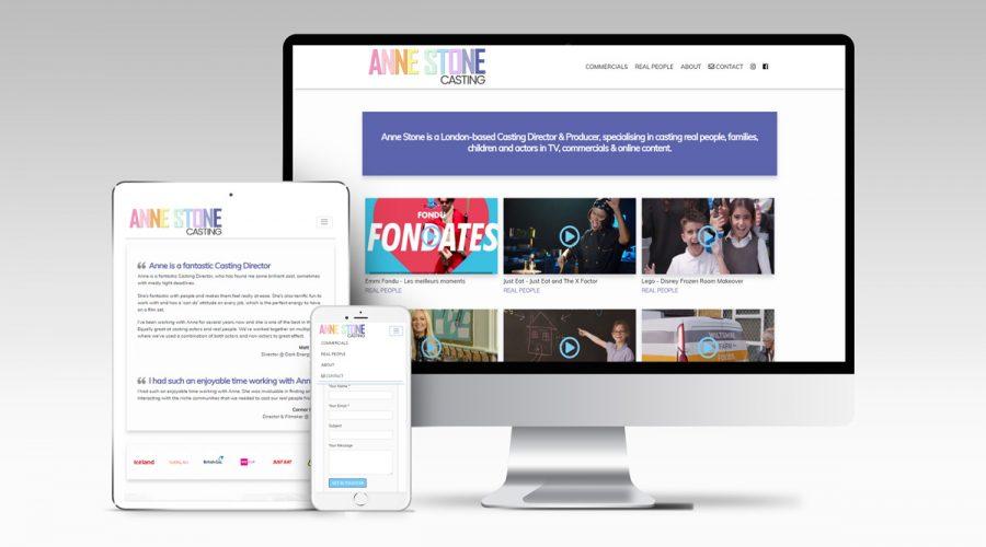 Web Design | Anne Stone Casting