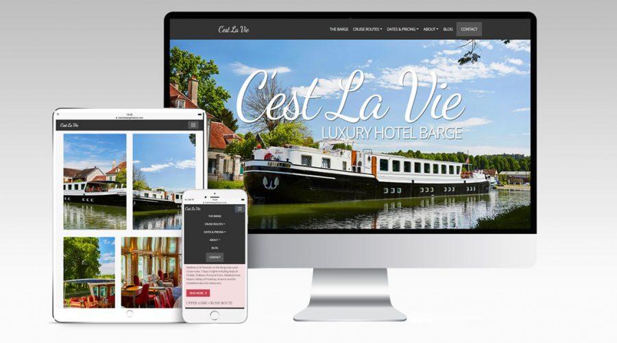 Web Design | C'est La Vie Barge
