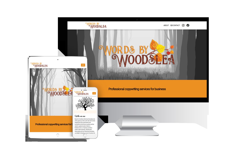 words by woodslea website design