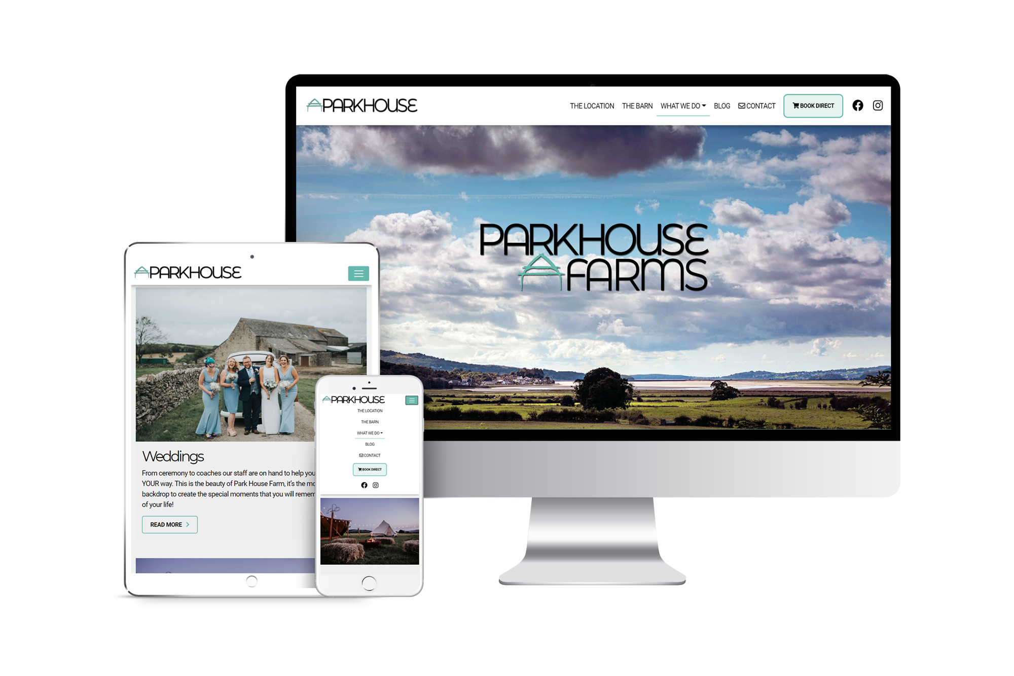 Park House Farms website design project